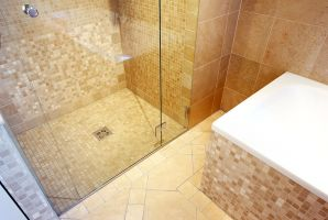 H?rlgasse, Dachbodenausbau, Bad, Dusche, Fliesen, Mosaik