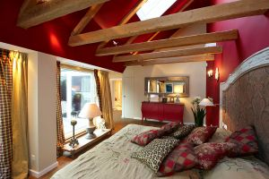 H?rlgasse, Dachbodenausbau, Schlafzimmer, Bett
